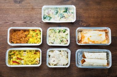 Tasty Meals In Foil Containers