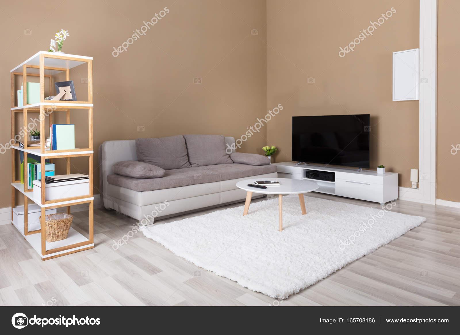 Wohnung Mit Fernseher Und Sofa Stockfoto C Andreypopov 165708186