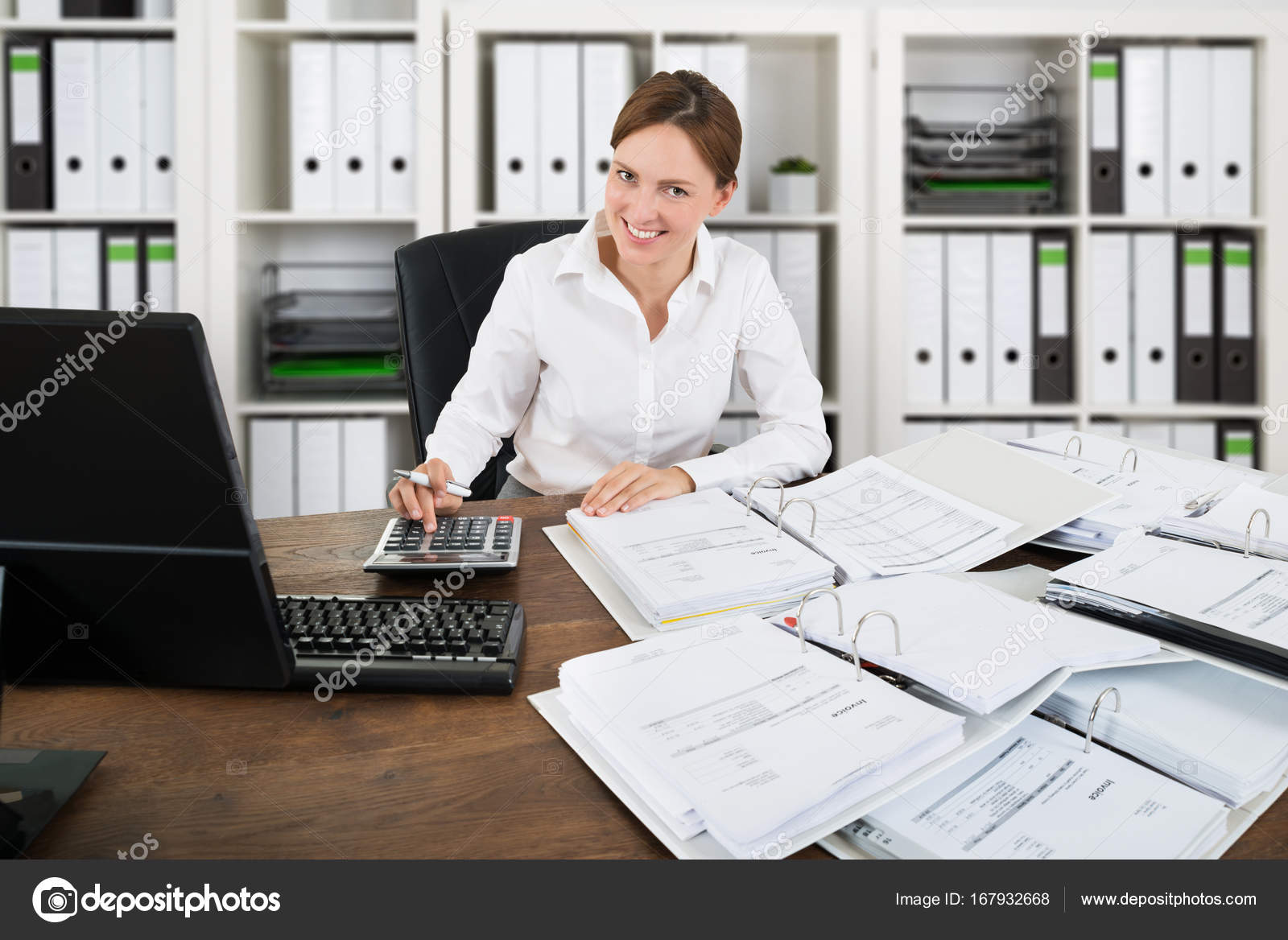Accountant Working In Office U2014 Stock Photo