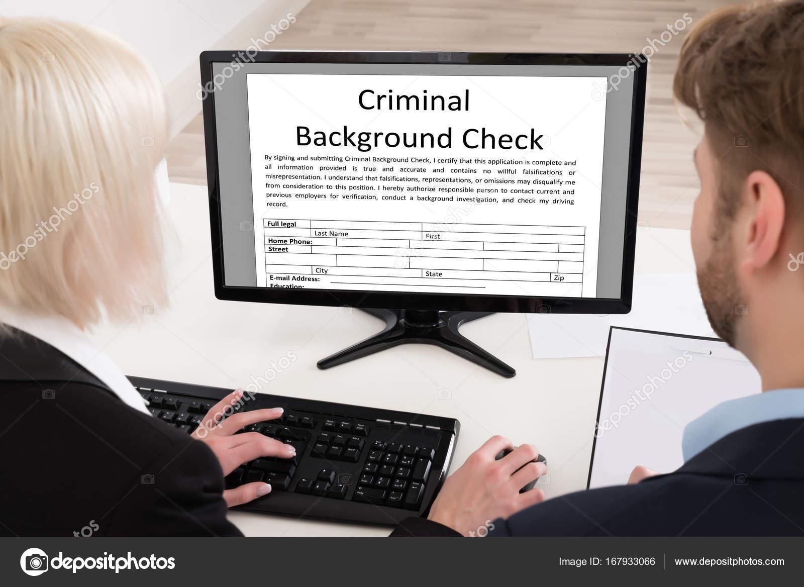 criminal background checks on people