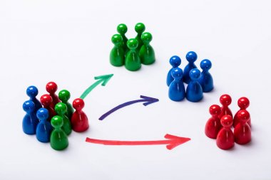 Customer Market Segmentation Concept On White Background