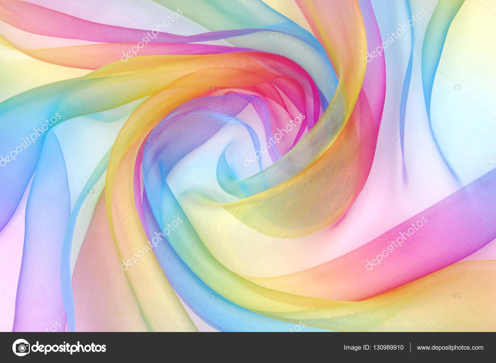Organza Stoff In Regenbogen Farben Stockfoto Severija 130989910