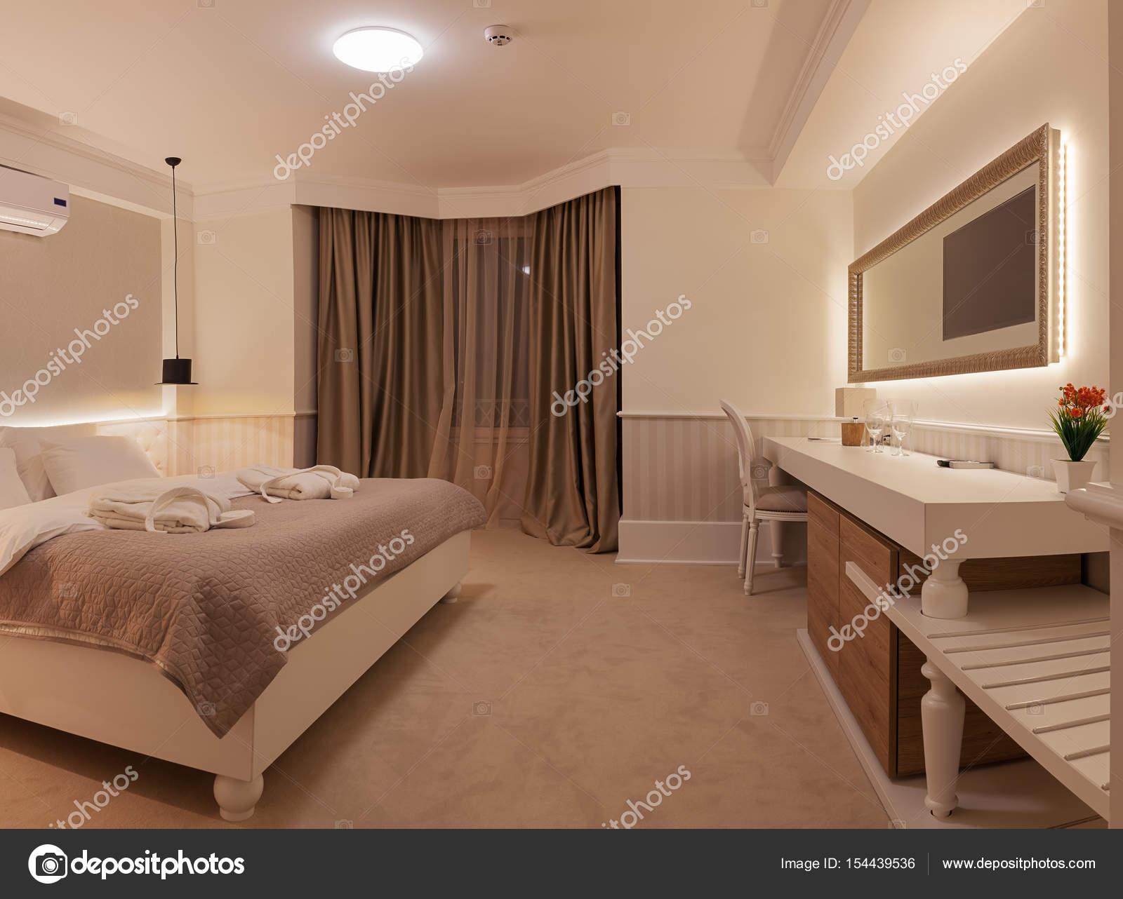 interieur van een hotelkamer stockfoto