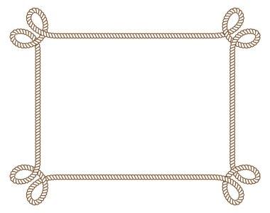 Vintage rope frame