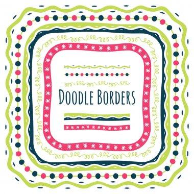 Set of doodle border