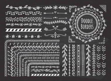 Set of border, brush, frame