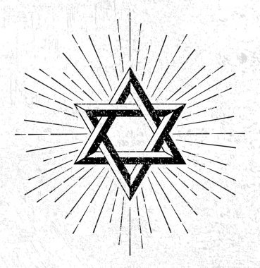 Vintage style star of David symbol