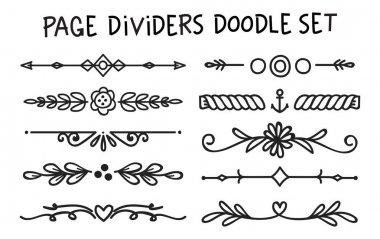 Set of page divider