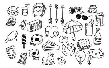 Set of cute random doodle