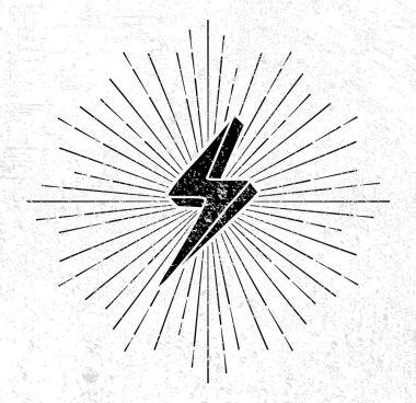 Vintage thunder symbol