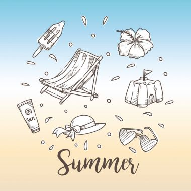 Summer holiday theme background