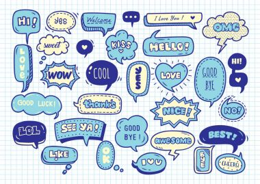speech bubbles seamless background