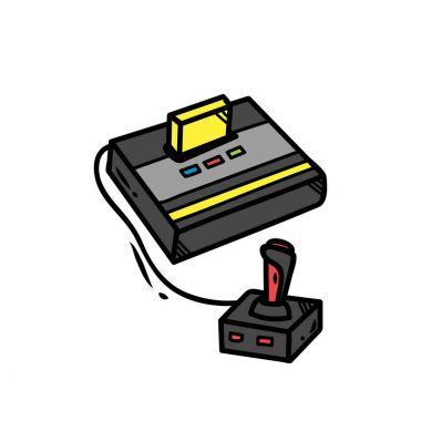 Retro video game doodle