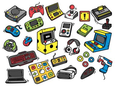 Video game seamless background vector stock vector