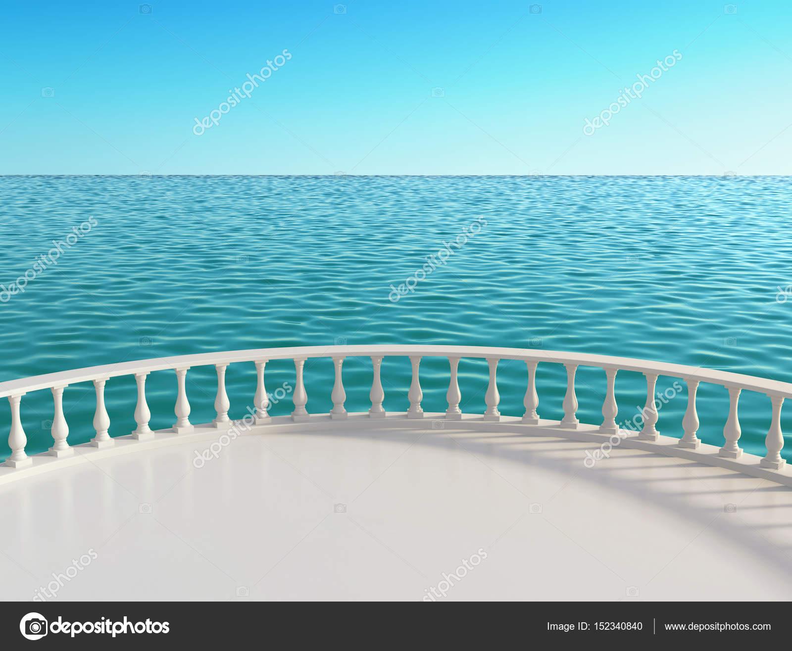Terrazza vista mare presso l\'hotel — Foto Stock © ptasha #152340840
