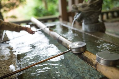 Water ladle in Japanese Shrine