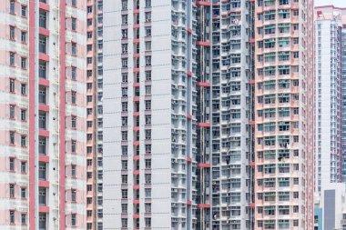 Exterior of building facade in Hong Kong