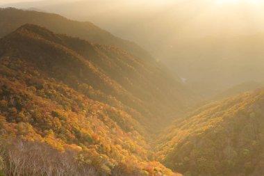 Beautiful sunset in Nikko of Japan