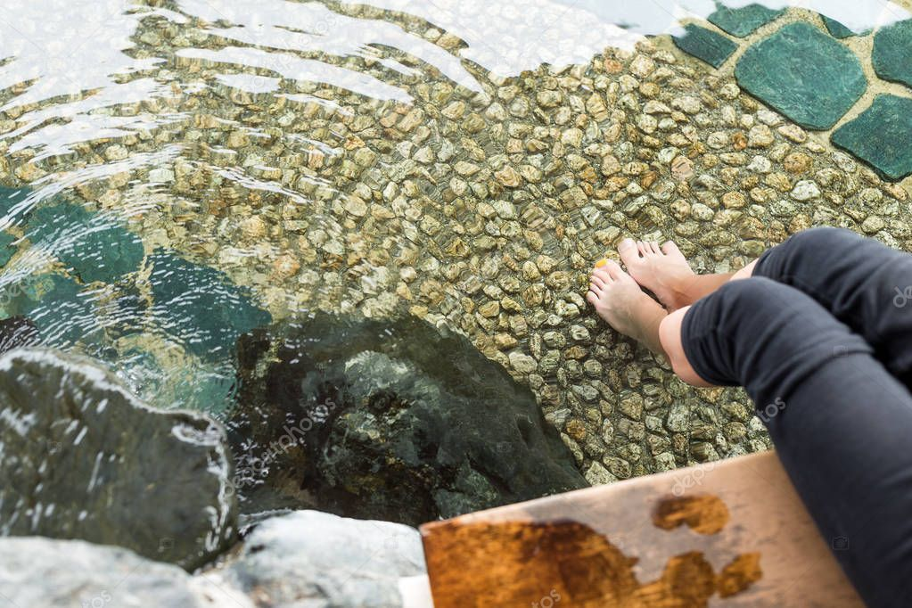 Female foot onsen in Japan