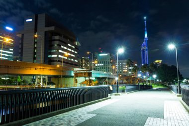 Fukuoka cityscape at night