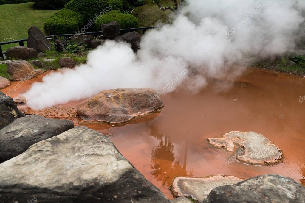 Blood pond hell in Beppu
