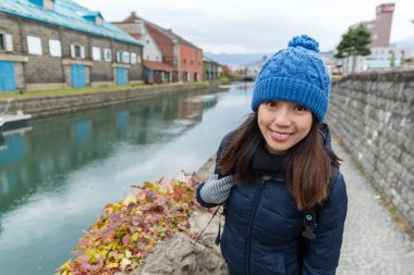 Young woman in Otaru city