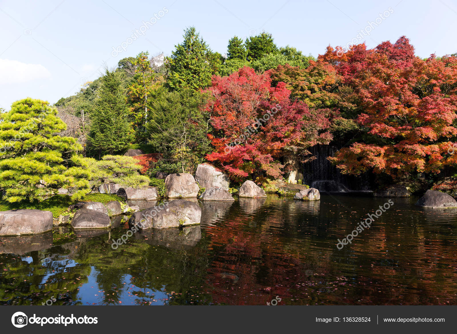 Autumn Kokoen Garden — Stock Photo © leungchopan #136328524