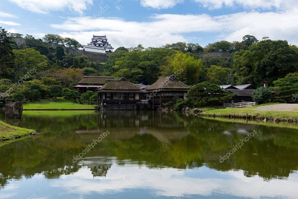 Traditional Nagahama Castle and garden