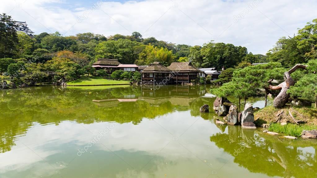 Japanese Nagahama Castle and garden