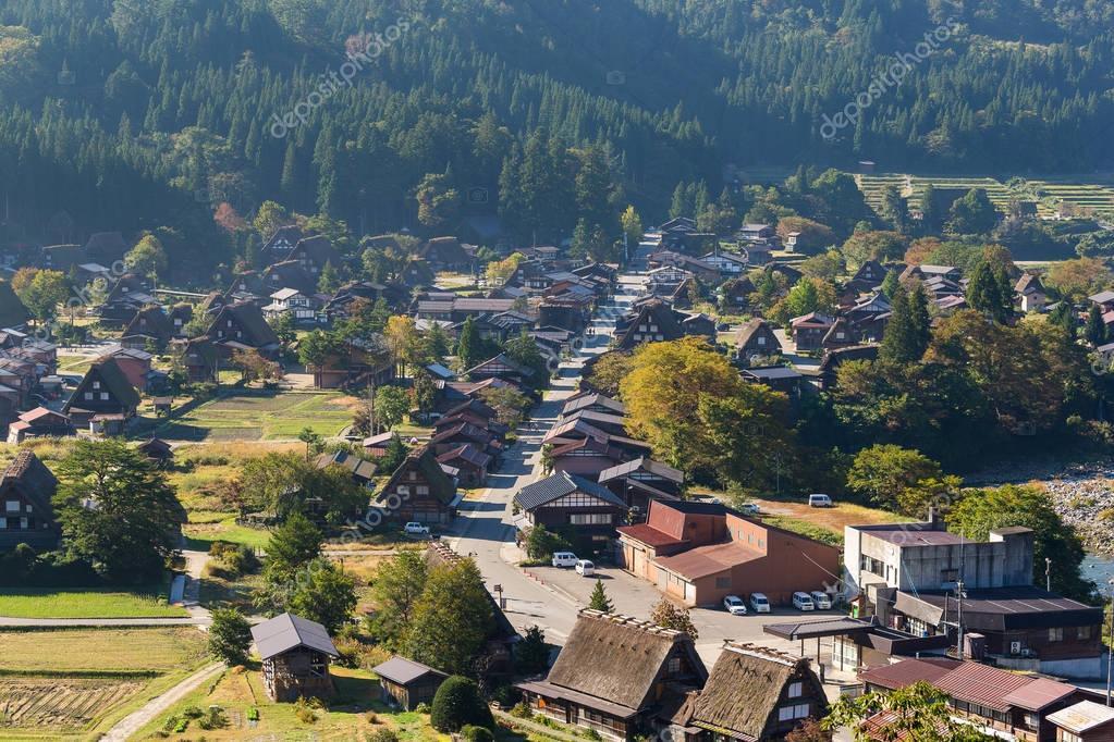 Japanese Shirakawago old village