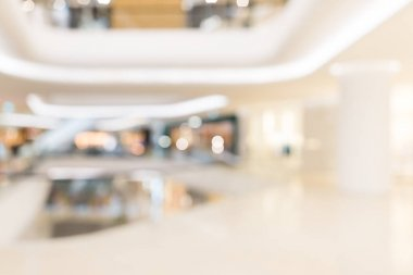 Shopping mall blur background with bokeh