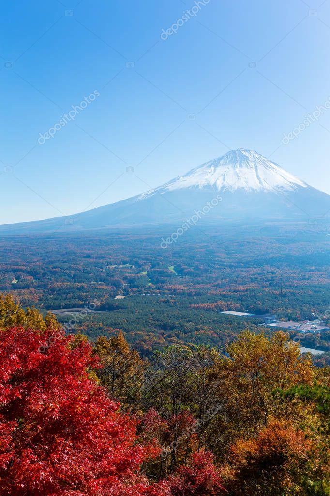 Mountain Fuji in Koyodai Plateau
