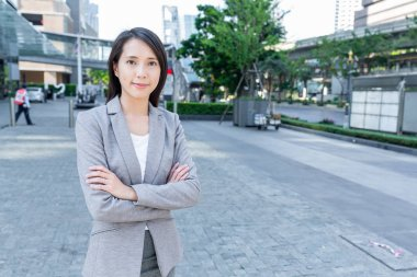 Asian businesswoman at central business district