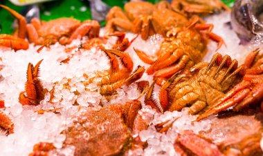 Iced Crabs in wet market