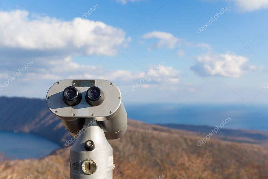 Tourist Binocular at Lake Kuttara
