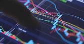 Fotografie Analysis stock market data on digital screen