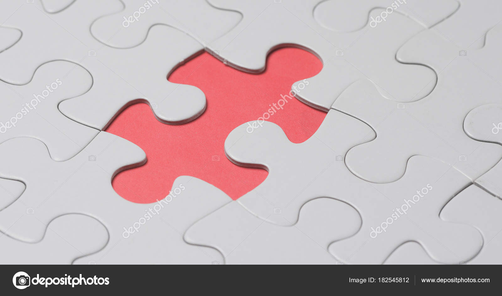Jigsaw Puzzle Missing Piece Stock Photo
