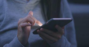 Woman using smartphone in hands