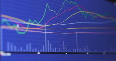 Financial stock data close up