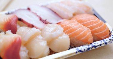 Take away sushi in pack