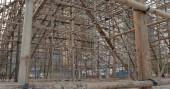 Fotografia Opera cinese prestazioni impalcatura di bambù