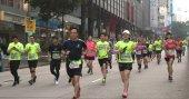 Tsim Sha Tsui, Hong Kong - 21 January, 2018: Standard chartered marathon