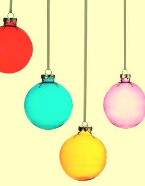 Four Christmas baubles