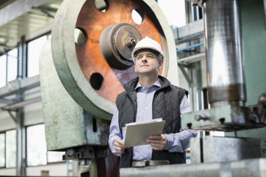 Male supervisor in metal industry