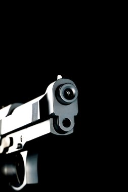 Handgun ready to make shoot