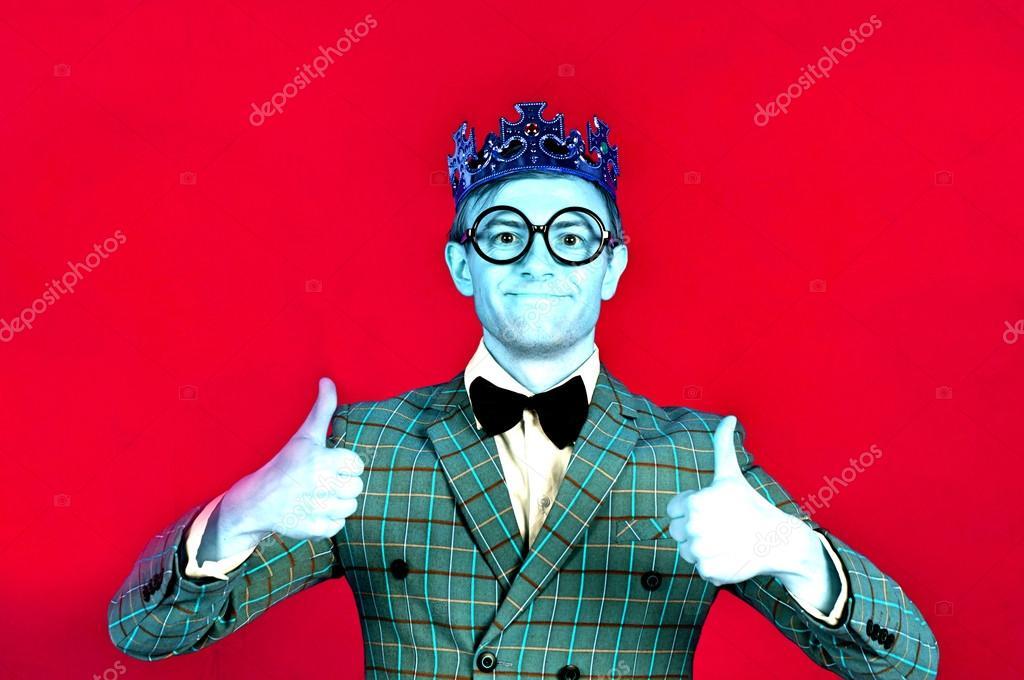 smiling king of nerds ストック写真 londondeposit 127342192