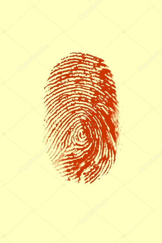biometric Red Fingerprint