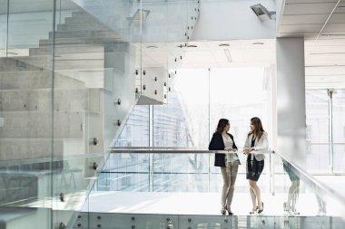 Businesswomen conversing in office