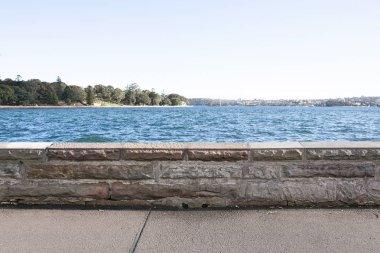 Sidewalk along side sea