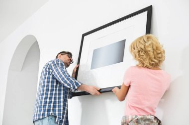 Couple hanging picture frame